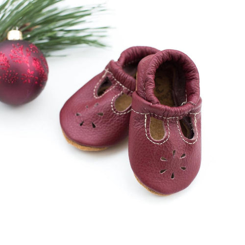 Cranberry t-strap shoes
