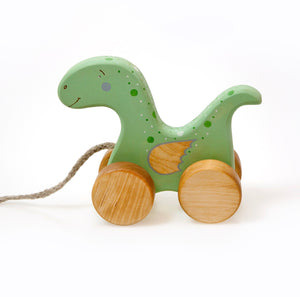 Wooden dragon pull toy