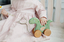 Load image into Gallery viewer, Wooden dragon pull toy