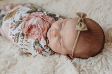 Load image into Gallery viewer, Garden floral swaddle & crib sheet bundle