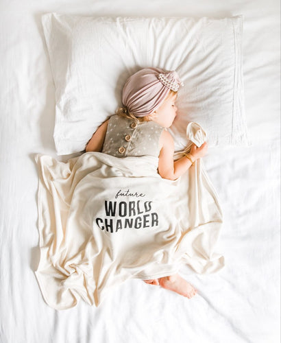 Future World Changer baby blanket