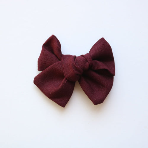 Mulberry chunky bow