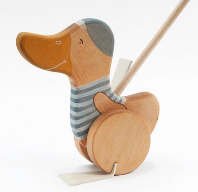 Wooden goose push toy