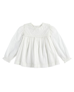 Eadie sailor collar blouse - off white
