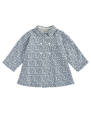 Load image into Gallery viewer, Sophie jacket - blue floral brushed cotton twill