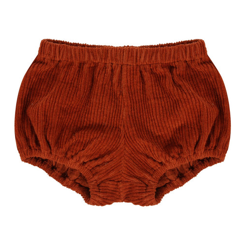 Poppy bloomers - rust chunky cord