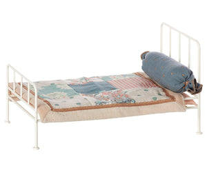 Metal mini bed - off white