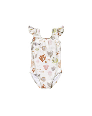 Sea life frill onepiece swimsuit