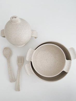 Wheat straw dinnerware set