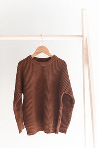 Knit sweater - earth