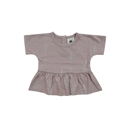 Peplum tee - shadow pink