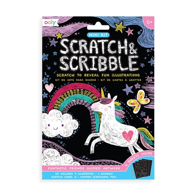 Mini scratch & scribble art kit - Funtastic Friends