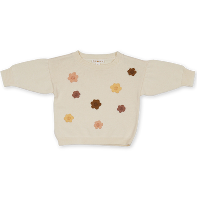 Flower power pullover - milk