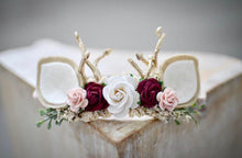 Load image into Gallery viewer, Baby fawn ears winter woodland headband