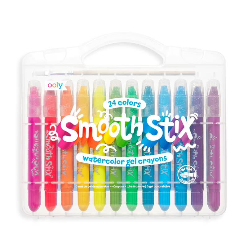 Smooth stix watercolor gel crayons - 25pc set