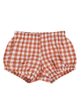 Load image into Gallery viewer, Poppy bloomers - rust gingham