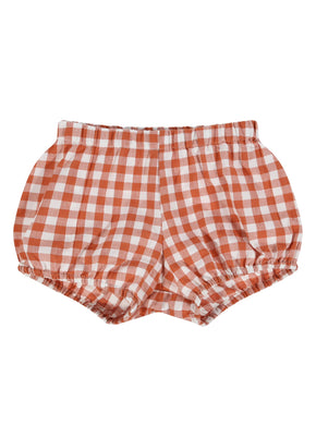 Poppy bloomers - rust gingham