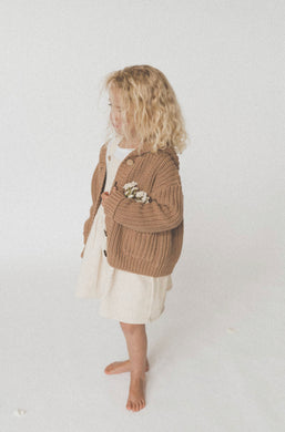 Chunky knit cardigan - chocolate