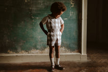 Load image into Gallery viewer, Cromer short dungarees - textured gingham in cinder
