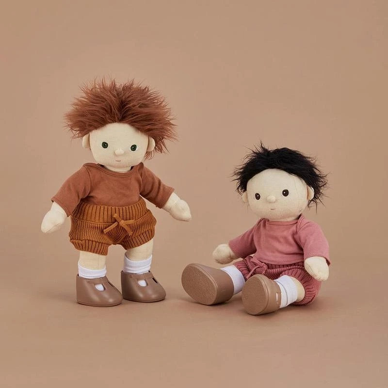 Dinkum doll snuggly knit set - toffee