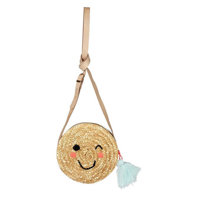 Cross body emoji straw bag
