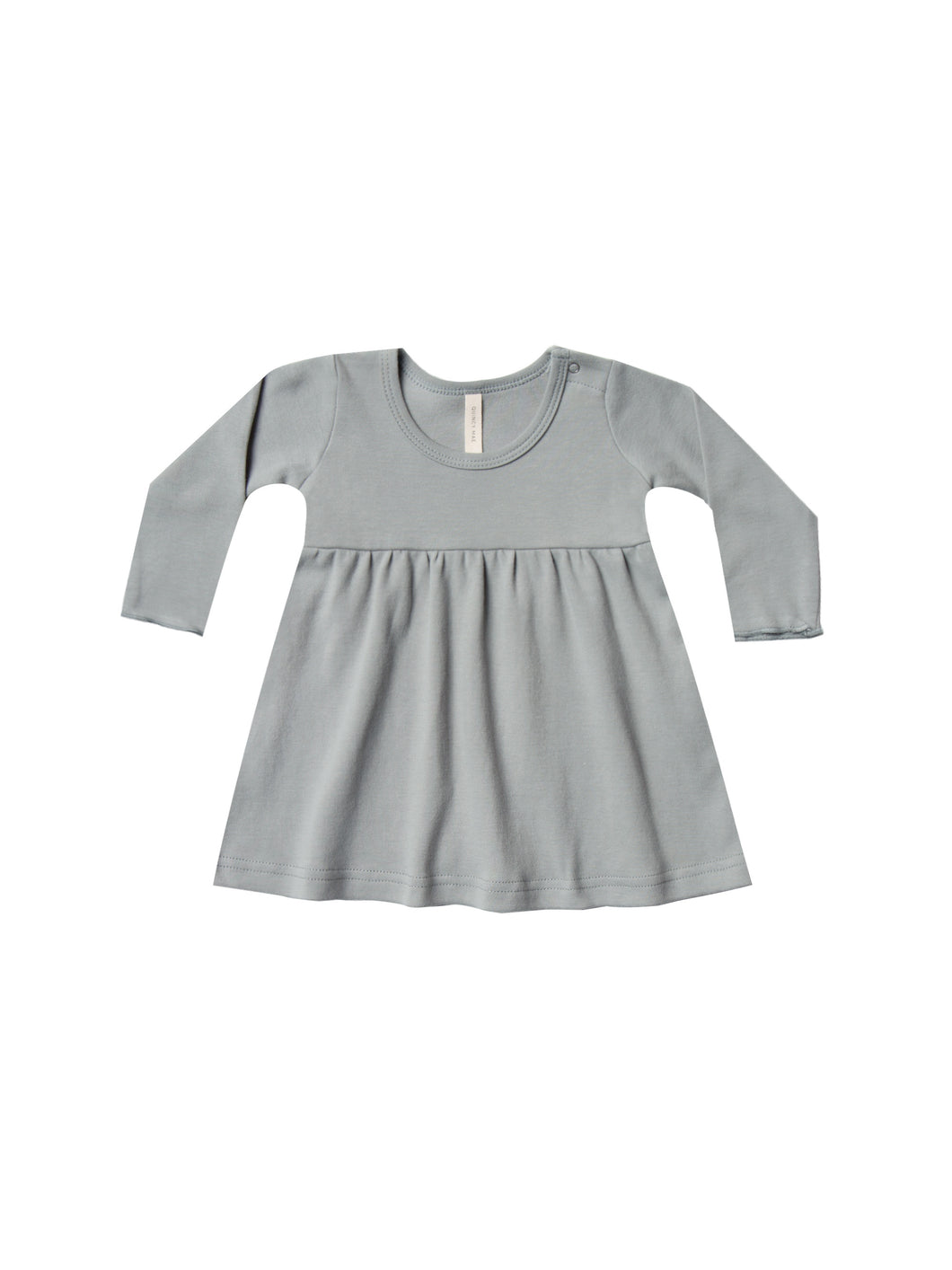 Quincy Mae baby dress - dusty blue