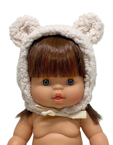 Doll cozy bonnet