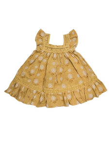 Paisley dress - honey