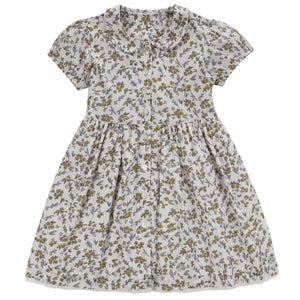 Audrey dress - yellow meadow floral