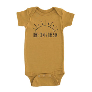 Here comes the sun short sleeve onesie