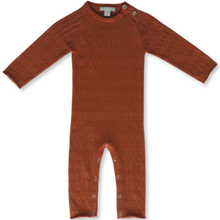 Load image into Gallery viewer, Pointelle jumpsuit - rust