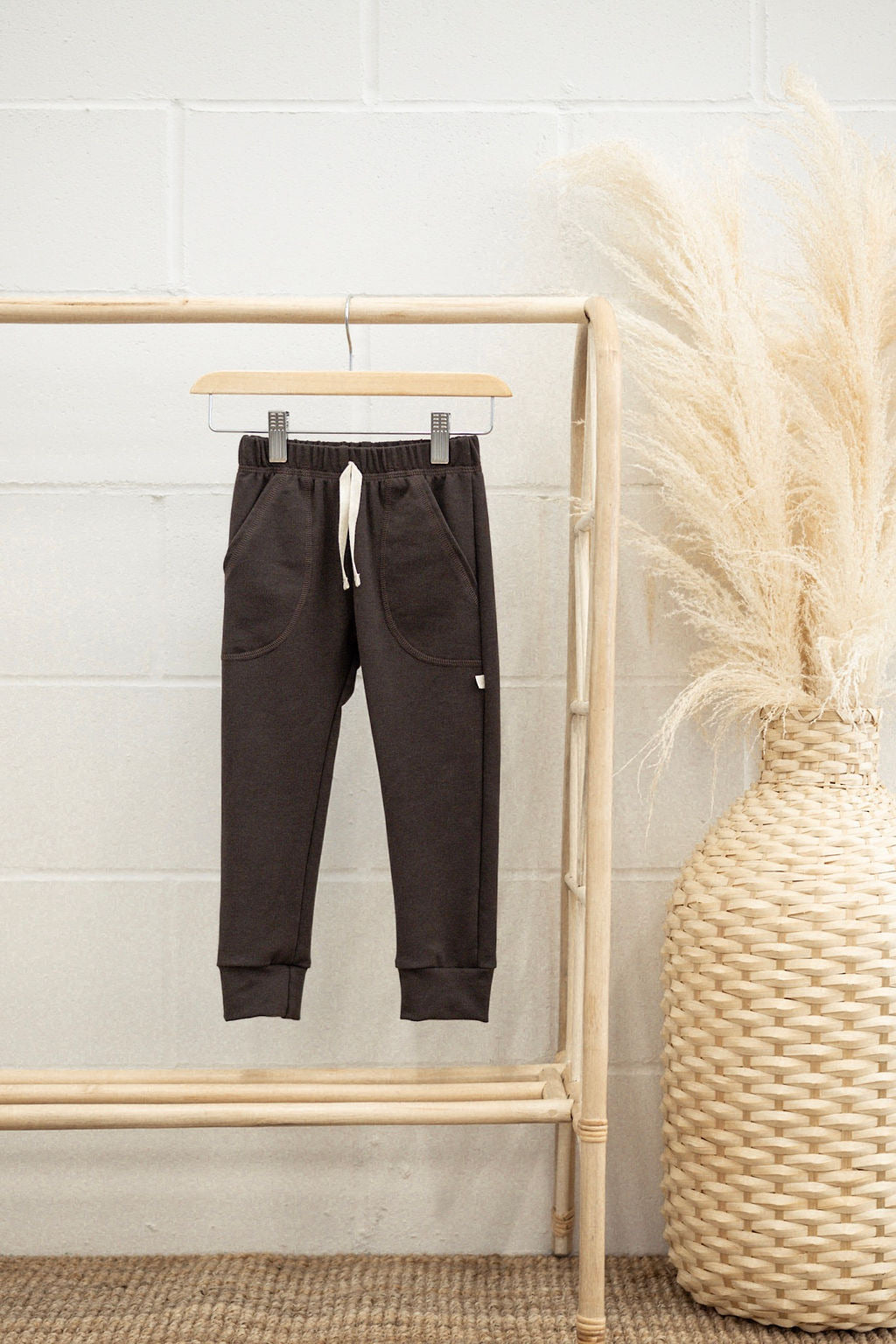 Terry lounge pants - faded black