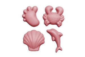 Scrunch moulds (set of 4) - dusty rose pink