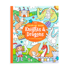 Load image into Gallery viewer, Color-in' book: Knights and dragons