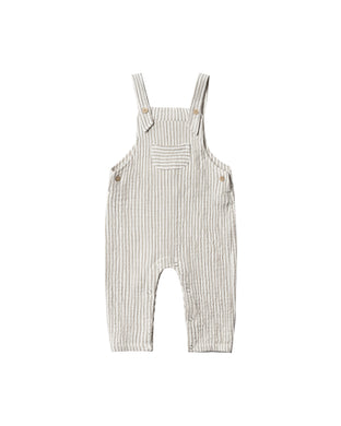 Stripe baby overall - olive