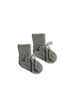 Quincy Mae knit booties - eucalyptus