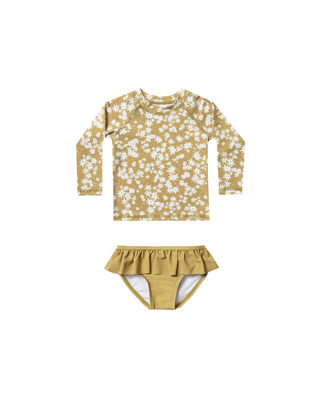Scattered daisy rashguard set swimwear