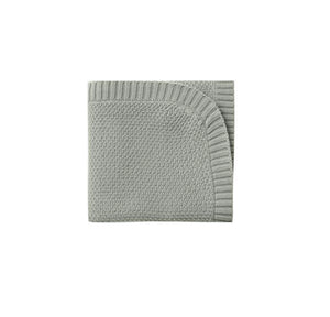 Quincy Mae chunky knit baby blanket - sage