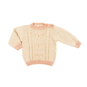Iris sweater - old rose oatmeal