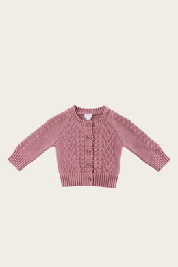 Jamie Kay cable cardigan - plum
