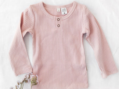 Willow cotton top - soft pink