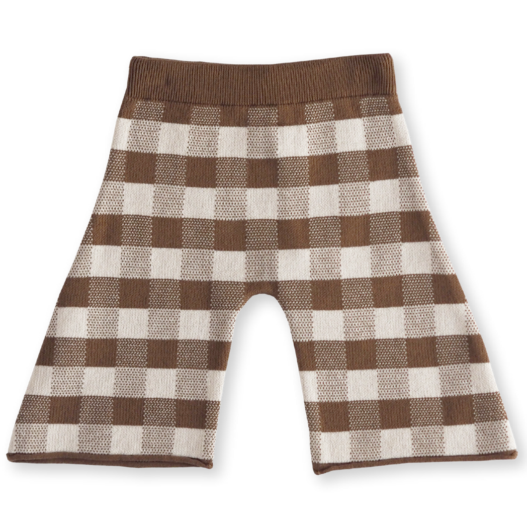 Gingham pant - earth + clay