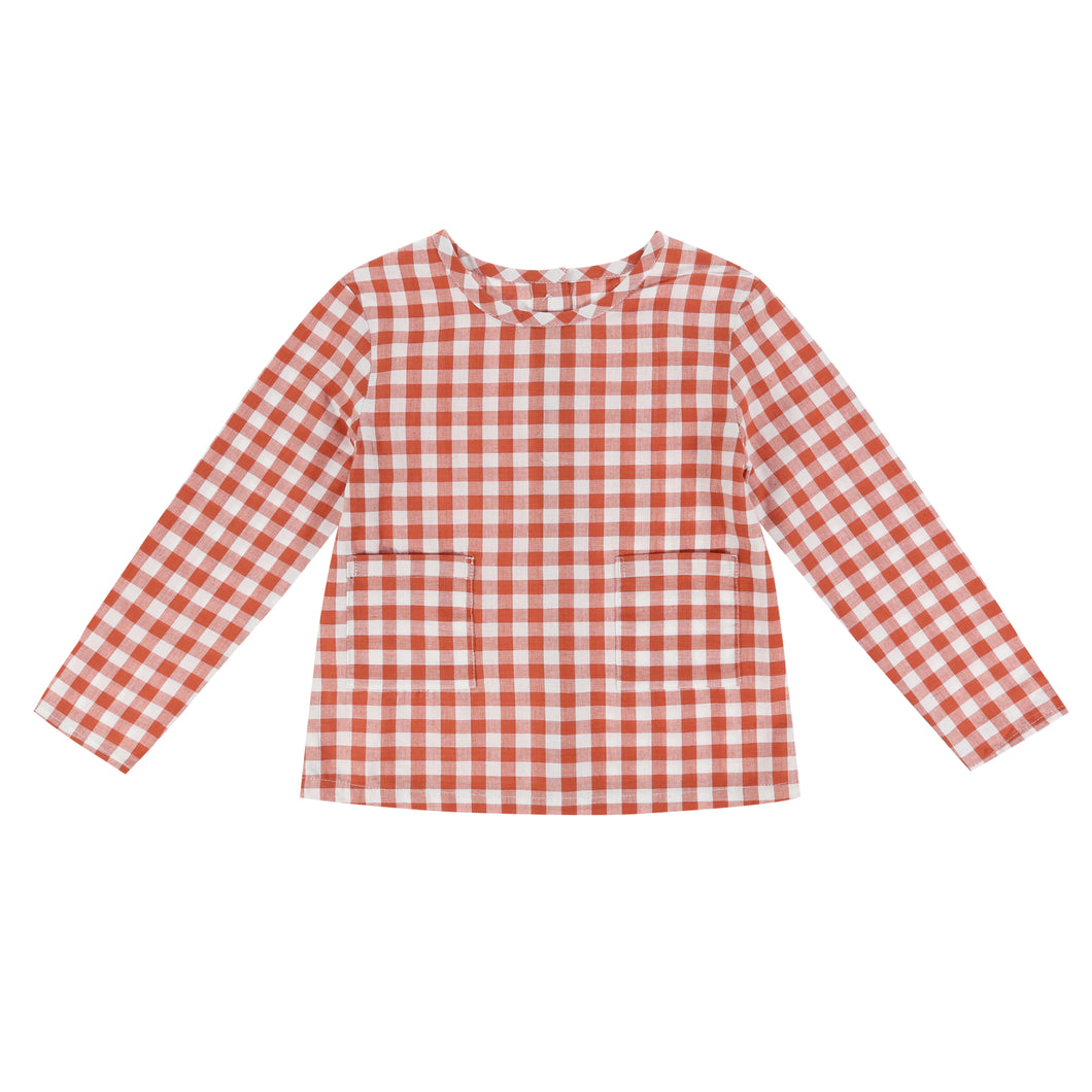 St. Ives shirt - rust gingham