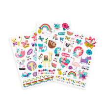Load image into Gallery viewer, Temporary glitter tattoos - funtastic friends