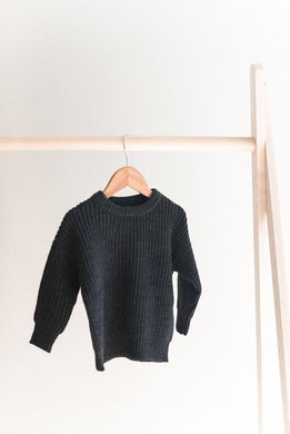 Knit sweater - charcoal
