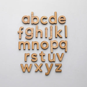 Wooden Alphabet Set • Montessori Movable Alphabet Set, Maple