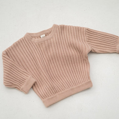 Essential knit pullover - strawberry