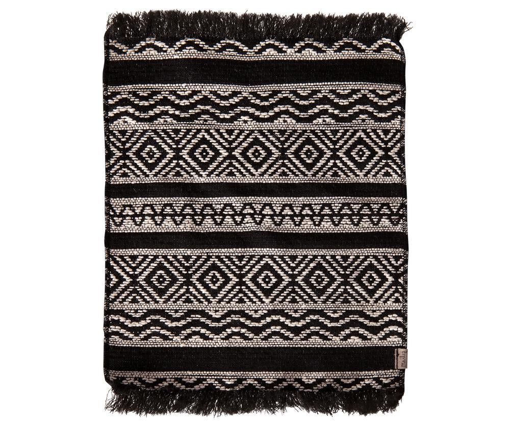 Miniature rug - black