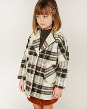 Load image into Gallery viewer, Fall plaid longline coat
