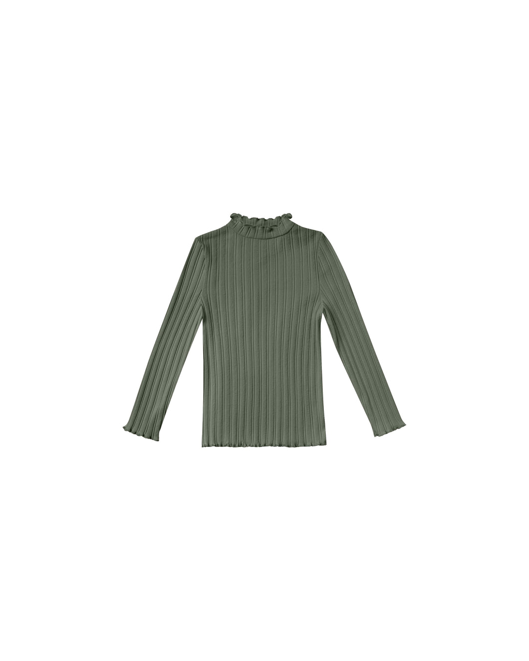 Ribbed longsleeve tee - forest